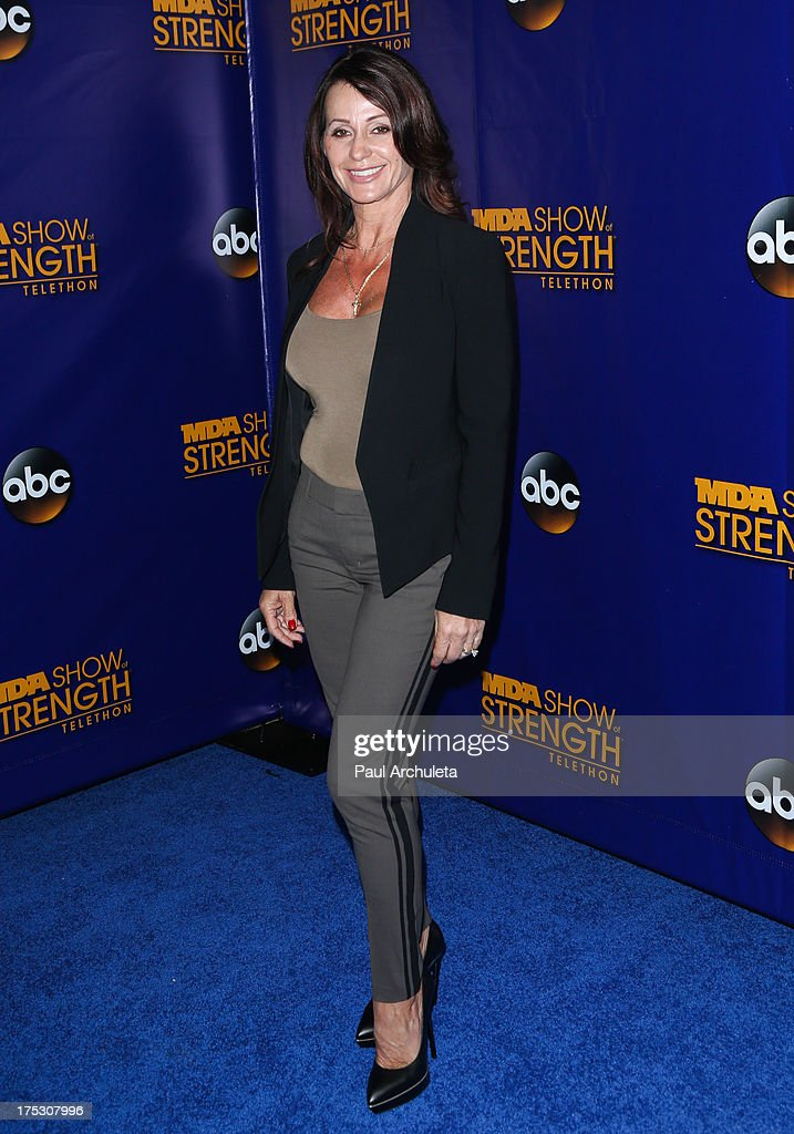 Former Olympic Athletes Nadia Comaneci attends the Muscular Dystrophy Association's 48th annual MDA Show Of Strength telethon day 2 at CBS Studios on August 1, 2013 in Los Angeles, California.