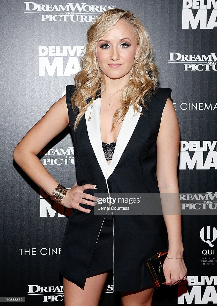 Former Olympic Champion Gymnast Nastia Liukin attends the screening of 'Delivery Man' hosted by DreamWorks Pictures and The Cinema Society at Paley Center For Media on November 17, 2013 in New York City.