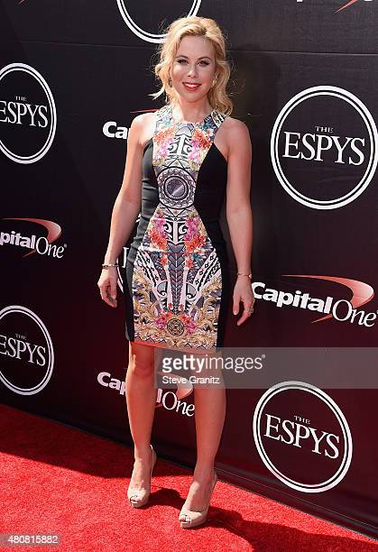 Former Olympic figure skater Tara Lipinski attends The 2015 ESPYS at Microsoft Theater on July 15 2015 in Los Angeles California