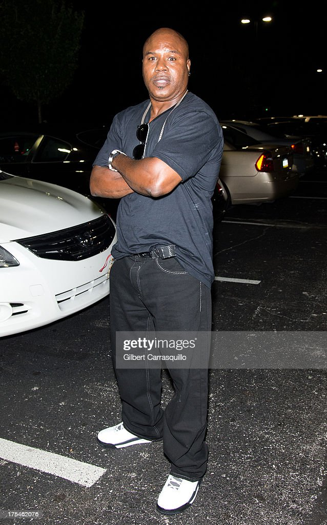Former Olympic gold medalist and world boxing champion in two weight classes Meldrick Taylor aka 'The Kid' poses at DMX 'Summer Anthems Tour' on August 2, 2013 in Essington, United States.