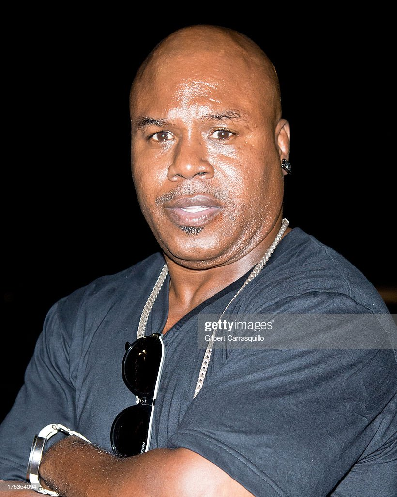 Former Olympic gold medalist and world boxing champion Meldrick Taylor aka 'The Kid' poses at DMX 'Summer Anthems Tour' on August 2, 2013 in Essington, United States.