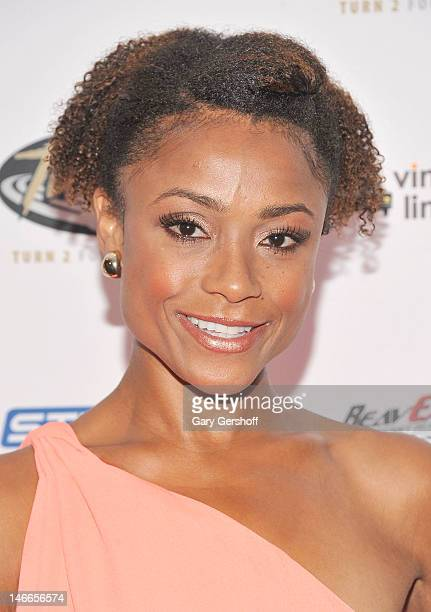 Former Olympic gymnast and cochair of the President's Council on Fitness Sports and Nutrition Dominique Dawes attends the 16th Annual Derek Jeter...
