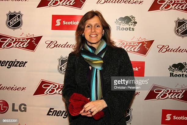 Former Olympic hockey player Cammi Granato attends the Club Bud NHL Party at the Commodore Ballroom on February 20 2010 during the Olympic Winter...