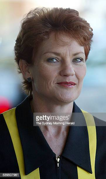 Former One Nation Leader Pauline Hanson announces her application for an Independant Senate seat in Queensland with her sister Judy Smith for the...