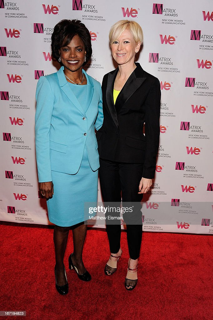Former Orlando chief of police Val Demings (L) and Editor-in-Chief, Cosmopolitan Magazine Joanna Coles attend the New York Women In Communications 2013 Matrix Awards at The Waldorf Astoria on April 22, 2013 in New York City.