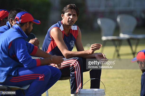 Former Pakistan cricketer Mohammad Asif looks on during a domestic oneday match in Hyderabad on January 10 2016 Butt and Mohammad Asif returned to...