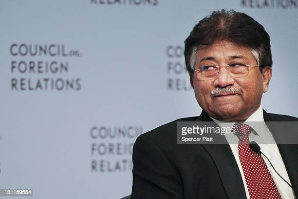 Former Pakistani president General Pervez Musharraf speaks at the Council on Foreign Relations on November 2 2011 in New York City General Musharraf...