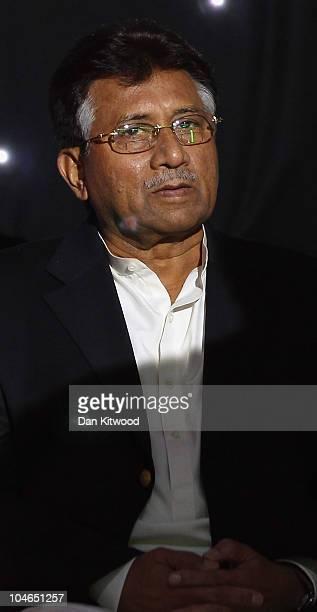 Former Pakistani President Pervez Musharraf addresses members of the UK Pakistani Community on October 2 2010 in Birmingham England Musharraf has...