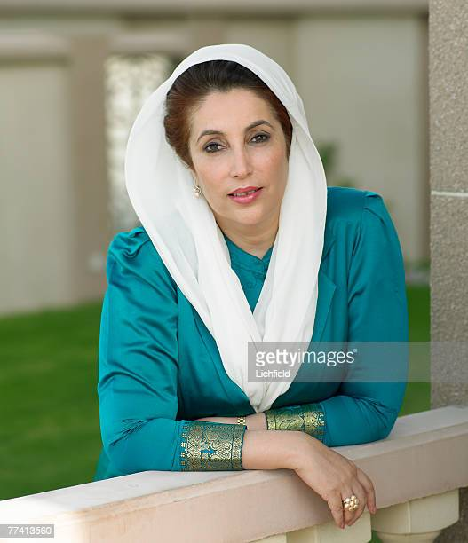 Former Pakistani Prime Minister and Opposition Leader Benazir Bhutto at her home in Dubai on 4th December 2004