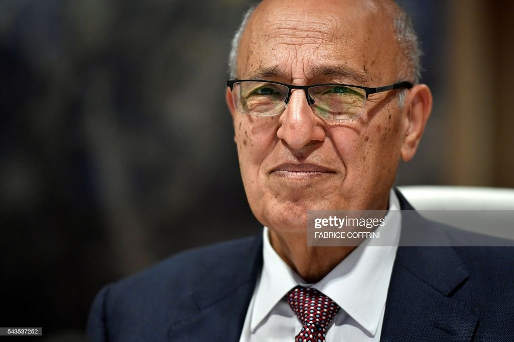 Former Palestinian chief negotiator and member of the Central Committee of Fatah, Nabil Shaath attends a UN conference on the Israeli and Palestinian peace process on June 29, 2016 at the United Nations offices in Geneva. COFFRINI