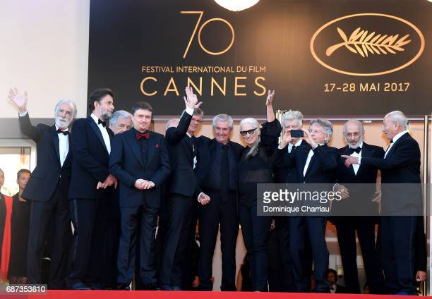 Former Palme D'Or winners Michael Haneke CostaGavras Cristian Mungiu Nanni Moretti Claude Lelouch Jane Campion David Lynch Roman Polanski Jerry...