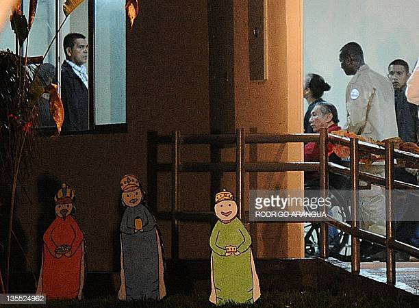 Former Panamenian dictator Manuel Noriega after arrive at the Renacer prison 25 km south east of Panama City on December 11 2011 Panamanian former...