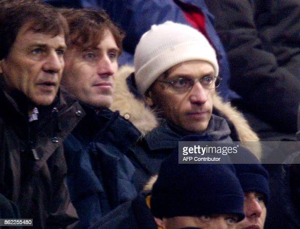 Former Parma football club President Stefano Tanzi watches the Parma vs Inter Milan Serie A soccer match at Ennio Tardini stadium in Parma 10 January...