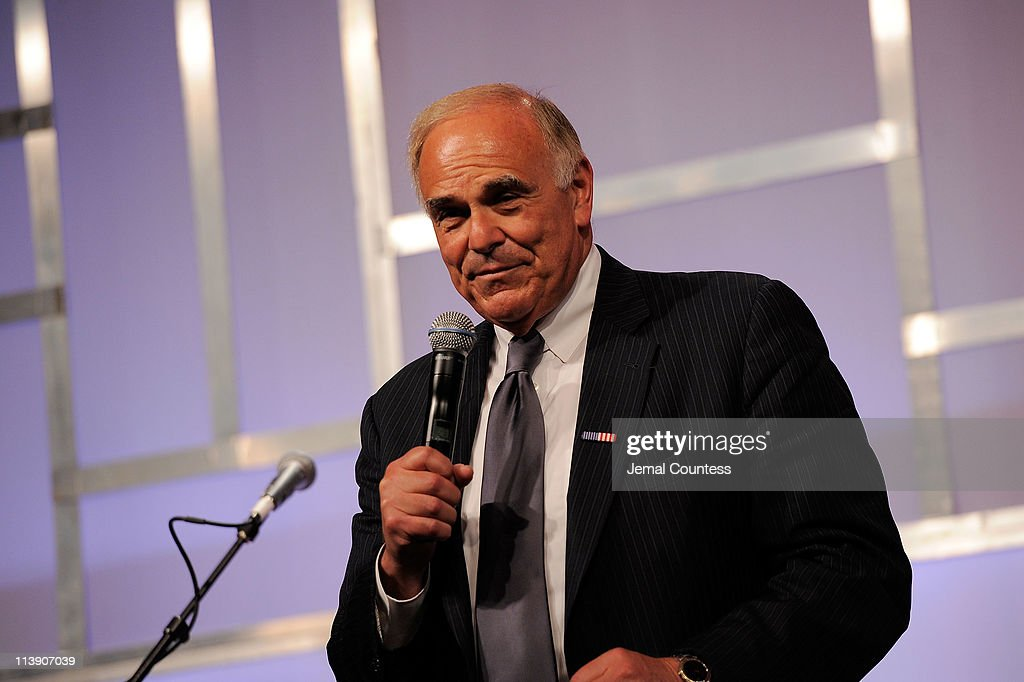 Former Pennsylvania Governor <a gi-track='captionPersonalityLinkClicked' href=/galleries/search?phrase=Ed+Rendell&family=editorial&specificpeople=2445310 ng-click='$event.stopPropagation()'>Ed Rendell</a> speaks at the Ambassadors for Humanity gala honoring Brian L. Roberts to benefit the USC Shoah Foundation Institute on May 9, 2011 in Philadelphia, Pennsylvania.
