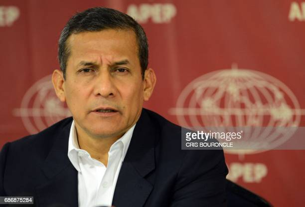 Former Peruvian President Ollanta Humala offers a press conference to the members of the foreign press residing in Lima on May 22 2017 Humala said...