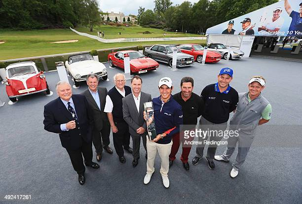 Former PGA Championship winners Peter Alliss Bernard Gallacher Neil Coles Paul Way Matteo Manassero of Italy Jose Maria Olazabal of Spain David...