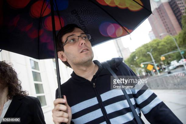 Former pharmaceutical executive Martin Shkreli arrives at the US District Court for the Eastern District of New York August 4 2017 in the Brooklyn...
