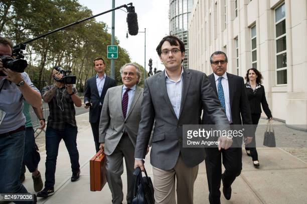 Former pharmaceutical executive Martin Shkreli departs the US District Court for the Eastern District of New York July 31 2017 in the Brooklyn...