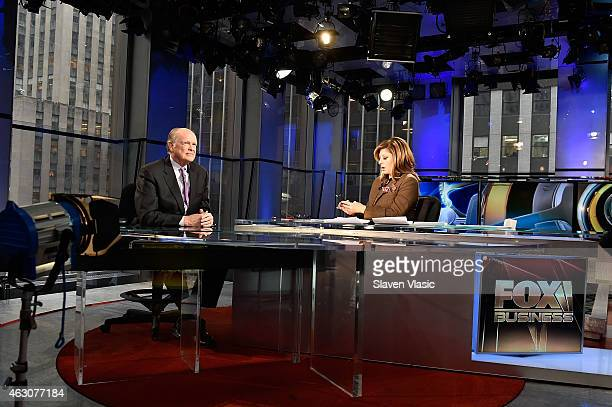 Former Philadelphia Federal Reserve President Charles Plosser visits 'Opening Bell with Maria Bartiromo' at FOX Business Network at FOX Studios on...