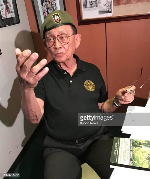 Former Philippine President Fidel Ramos speaks to media on May 26 2017 in Manila to air his reaction to the martial law declaration in the entire...