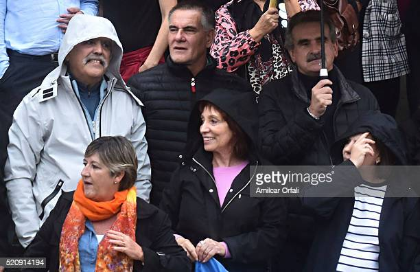 Former Planning Minister Julio De Vido gestures next to Frente para la Victoria party legislators and supporters of Former President of Argentina...