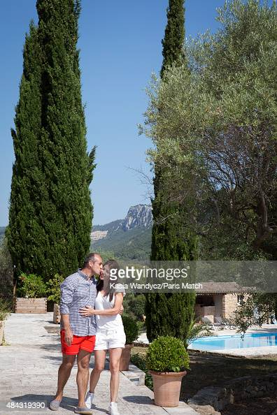 Former player and rugby coach Philippe SaintAndre is photographed with his wife Patricia at their home for Paris Match on June 17 2015 near Toulon...