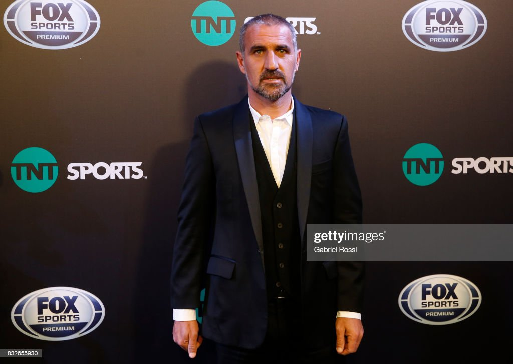Former player and TV coommentator Raul Alfredo Cascini during AFA's Superliga Official Launch at Hilton Hotel on August 15, 2017 in Buenos Aires, Argentina.