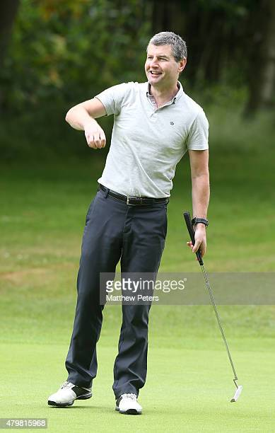 Former player Denis Irwin of Manchester United takes part in the annual MU Foundation golf day at Dunham Forest Golf and Country Club on July 7 2015...