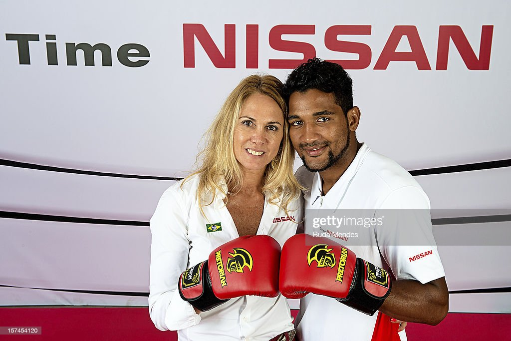 Former player Hortencia and Yamaguchi Falc‹o pose for a picture during the presentation of Team Nissan for Rio de Janeiro Olympics Games 2016 at Cine Lagoon on November 27, 2012 in Rio de Janeiro, Brazil.