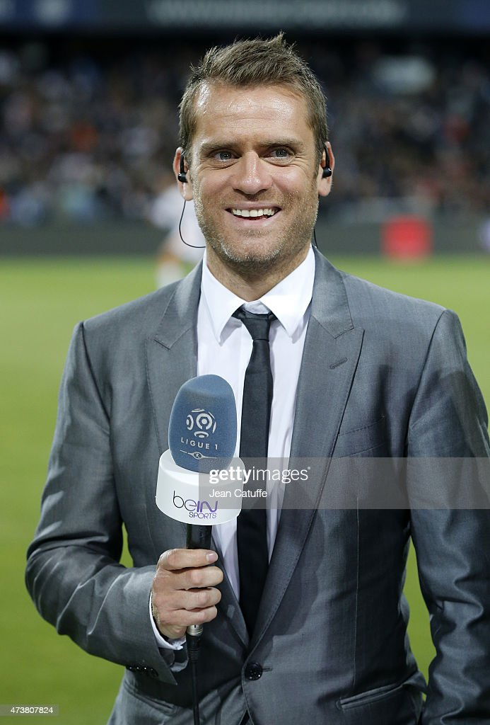 Former player <a gi-track='captionPersonalityLinkClicked' href=/galleries/search?phrase=Jerome+Rothen&family=editorial&specificpeople=641568 ng-click='$event.stopPropagation()'>Jerome Rothen</a> comments for beIN Sports the French Ligue 1 match between Montpellier Herault SC (MHSC) and Paris Saint-Germain (PSG) at Stade de la Mosson on May 16, 2015 in Montpellier, France.