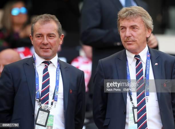 Former Poland players Marek Kozminski and Zbigniew Boniek