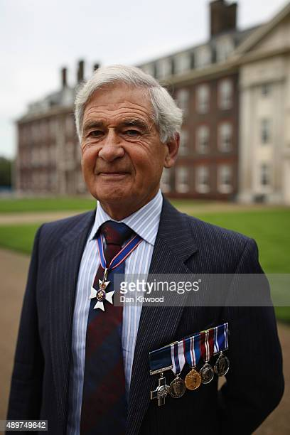 Former policeman Jim Beaton GC Chairman of the Victoria And George Cross Association poses before being presented a Specially Commissioned...