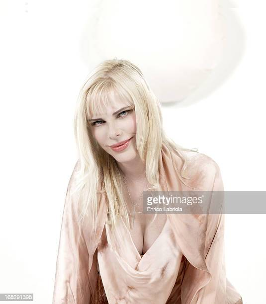 Former pornographic actress Ilona Staller is photographed for Grazia Italy on March 3 2007 in Milan Italy