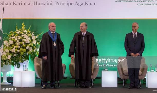 Former Portugal's Prime Minister Dr Francisco Pinto Balsemao patron for the nomination His Highness Shah Karim alHussaini Prince Aga Khan and...