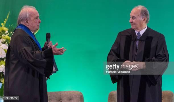 Former Portugal's Prime Minister Dr Francisco Pinto Balsemao patron for the nomination and His Highness Shah Karim alHussaini Prince Aga Khan at NOVA...
