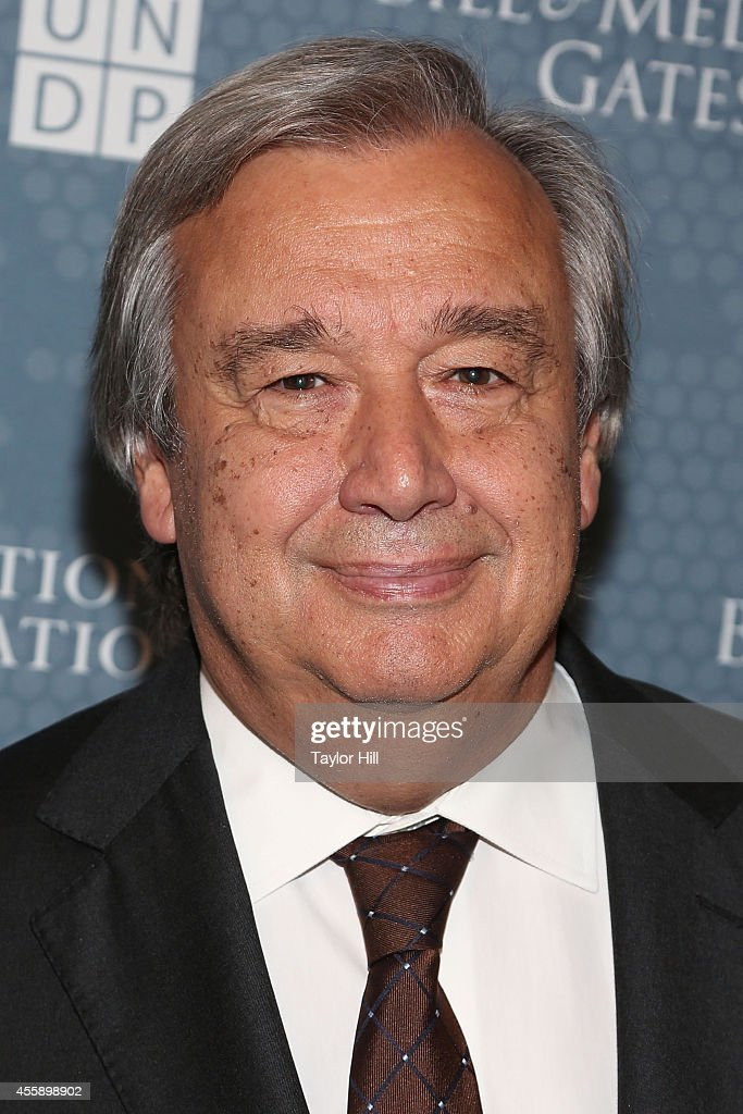 Former Portuguese Prime Minister <a gi-track='captionPersonalityLinkClicked' href=/galleries/search?phrase=Antonio+Guterres&family=editorial&specificpeople=553912 ng-click='$event.stopPropagation()'>Antonio Guterres</a> attends the 2014 Social Good Summit at 92Y on September 21, 2014 in New York City.