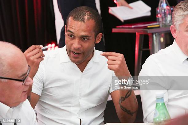 Former Premier League footballer Clarke Carlisle participates in the 10 Roundtables event on day 2 of the Beyond Sport Summit and Awards 2016 at NFL...