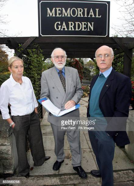 Former Presbyterian moderator the Rev John Dunlop with Father Brian Lennon founder of Community Dialogue and Olive Hobson a peacebuilder from the...