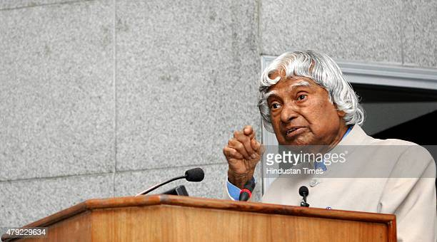 former president APJ Abdul Kalam addressing an interaction program with a gathering of principals and teachers at Delhi Secretariat on July 2 2015 in...