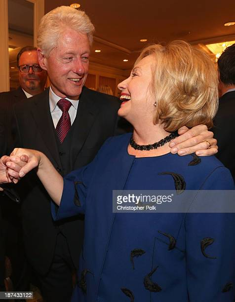 Former president Bill Clinton and former Secretary of State Hillary Clinton attend International Medical Corps Annual Awards Celebration at Regent...