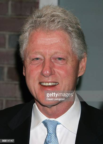 Former President Bill Clinton and US Ambassador to the Hurricane Katrina relief effort appears prior to the performance of Billy Cyrstal's oneman...