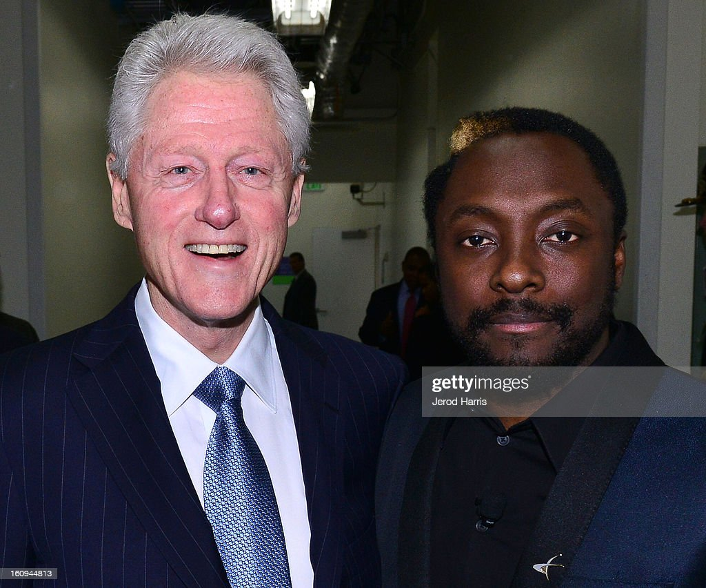 Former President <a gi-track='captionPersonalityLinkClicked' href=/galleries/search?phrase=Bill+Clinton&family=editorial&specificpeople=67203 ng-click='$event.stopPropagation()'>Bill Clinton</a> and will.i.am attend <a gi-track='captionPersonalityLinkClicked' href=/galleries/search?phrase=Will.I.Am&family=editorial&specificpeople=203050 ng-click='$event.stopPropagation()'>Will.I.Am</a>'s Annual TRANS4M Day Conference on TRANS4Ming America on February 7, 2013 in Los Angeles, California.