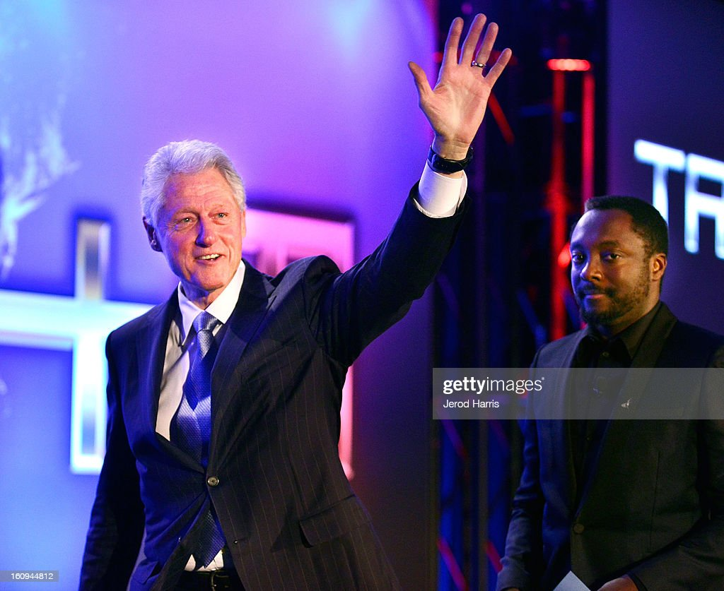 Former President <a gi-track='captionPersonalityLinkClicked' href=/galleries/search?phrase=Bill+Clinton&family=editorial&specificpeople=67203 ng-click='$event.stopPropagation()'>Bill Clinton</a> and will.i.am. speak at <a gi-track='captionPersonalityLinkClicked' href=/galleries/search?phrase=Will.I.Am&family=editorial&specificpeople=203050 ng-click='$event.stopPropagation()'>Will.I.Am</a>'s Annual TRANS4M Day Conference on TRANS4Ming America on February 7, 2013 in Los Angeles, California.