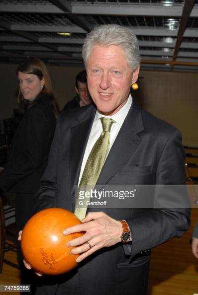 Former President Bill Clinton at...