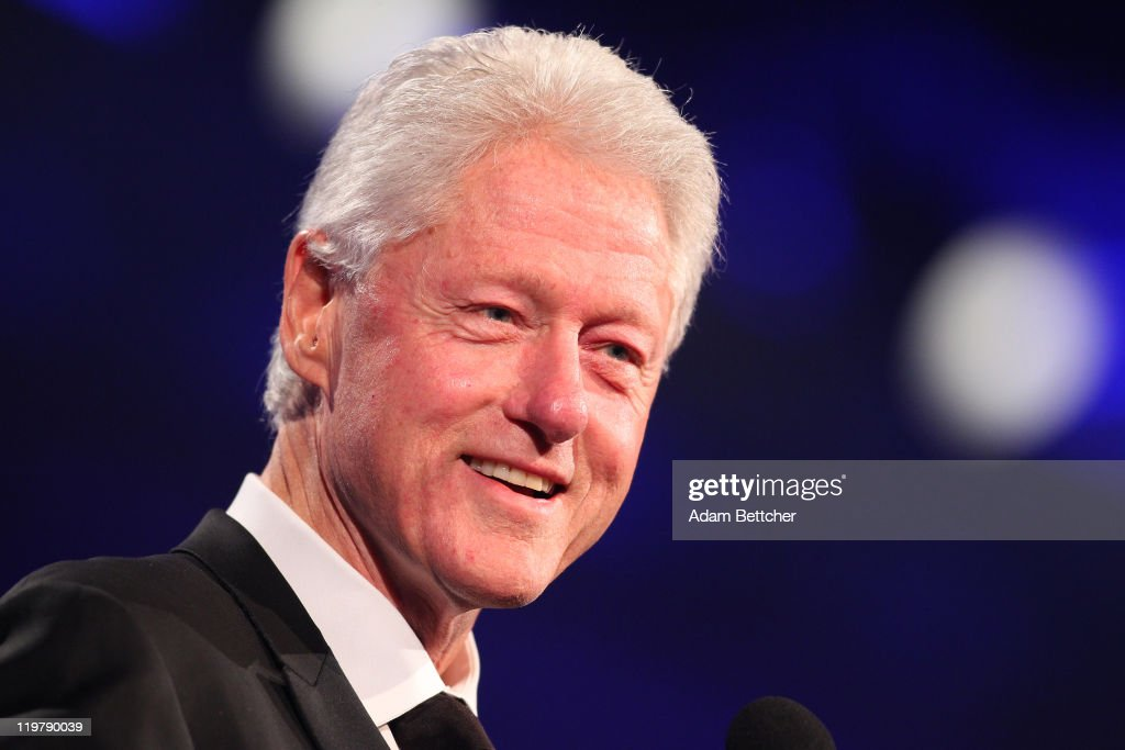 Former President Bill Clinton attends the Starkey Hearing Foundation's 'So The World May Hear Awards Gala' 2011 at River Centre on July 24 2011 in St...