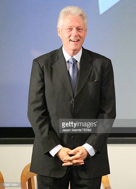 Former President Bill Clinton during Clinton Foundation Makes Major Climate Change Announcement August 1 2006 at UCLA Korn Convocation Hall in...