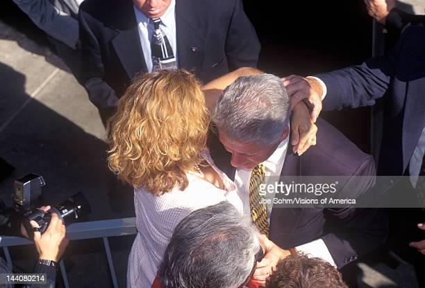 Former President Bill Clinton meets the crowd at a Santa Barbara City College campaign rally in 1996 Santa Barbara California