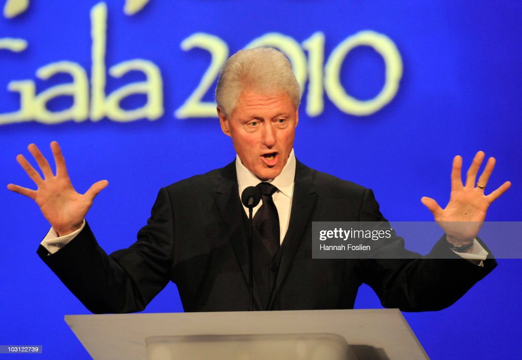 Former President Bill Clinton speaks at the 2010 Starkey Hearing Foundation 10th Annual 'So the World May Hear' Gala at Saint Paul RiverCentre on...