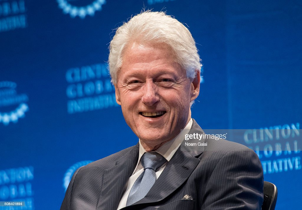 Former President <a gi-track='captionPersonalityLinkClicked' href=/galleries/search?phrase=Bill+Clinton&family=editorial&specificpeople=67203 ng-click='$event.stopPropagation()'>Bill Clinton</a> speaks at The Clinton Global Initiative Winter Meeting at Sheraton New York Times Square on February 4, 2016 in New York City.