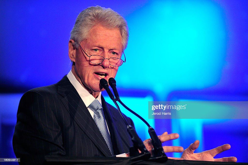 Former President <a gi-track='captionPersonalityLinkClicked' href=/galleries/search?phrase=Bill+Clinton&family=editorial&specificpeople=67203 ng-click='$event.stopPropagation()'>Bill Clinton</a> speaks at Will.I.Am's Annual TRANS4M Day Conference on TRANS4Ming America on February 7, 2013 in Los Angeles, California.